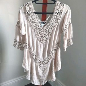 Another Story crochet blouse